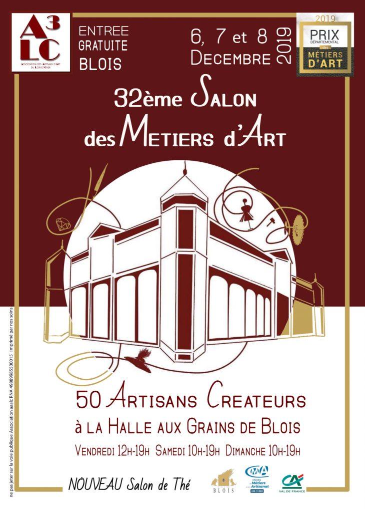 Affiche salon métiers d'art Blois 2019