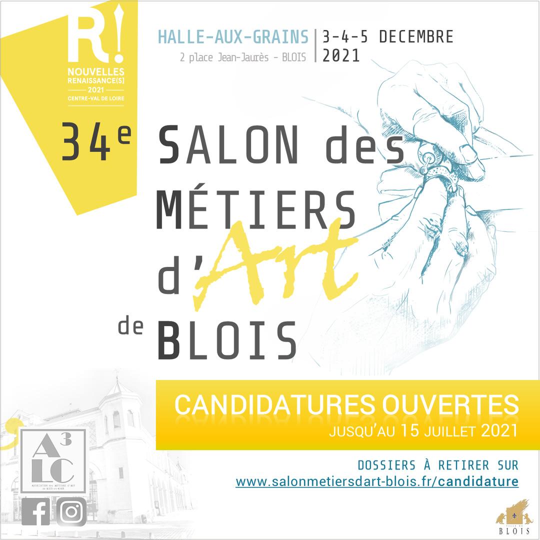 Candidatures 34ème Salon des Métiers d'Art de Blois